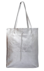 Metallic Cowhide Tote Bag