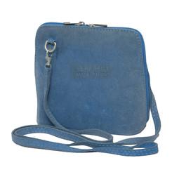 Suede Sholder Bag in Blue