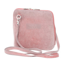 Suede Sholder Bag in Pink