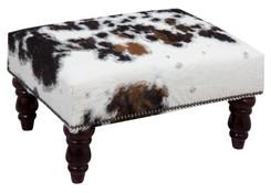 2ft x 1.5ft Cowhide Footstool / Ottoman FST764