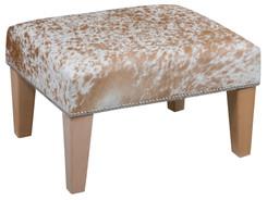 2ft x 1.5ft Cowhide Footstool / Ottoman FST767