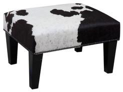 2ft x 1.5ft Cowhide Footstool / Ottoman FST770