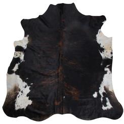 dark brindle cowhide rug
