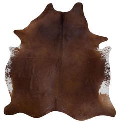 brown cowhide rug