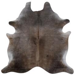 dark brown cowhide rug