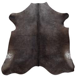 dark grey cowhide rug