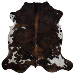 brown brindle cowhide rug