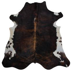 dark brown brindle cowhide