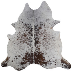 white speckled cowhide rug