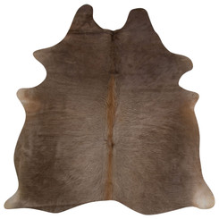 silver brown cowhide rug