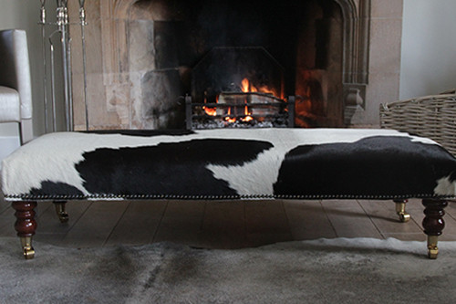 Add Style and Flair to any Room With An  Authentic Cowhide Footstool