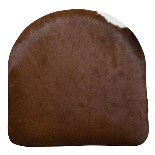 Brown cowhide cushion