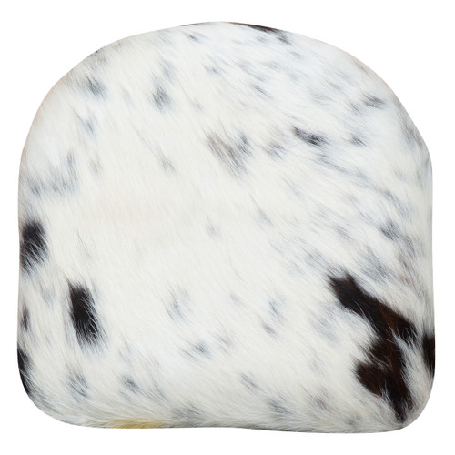 Tricolour cowhide cushion