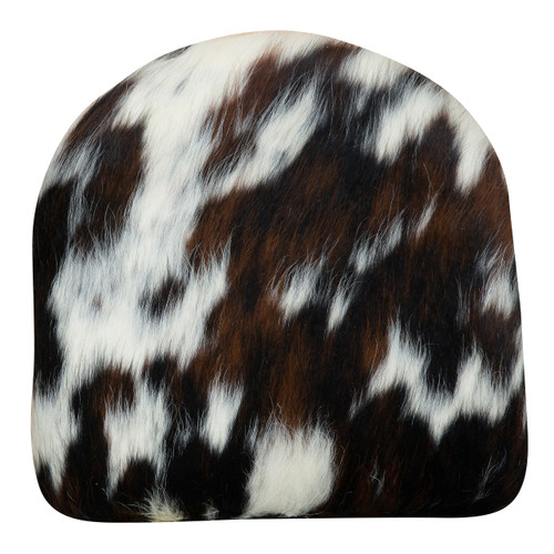 Tri colour cowhide cushion