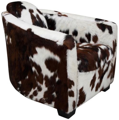 cowhide armchair