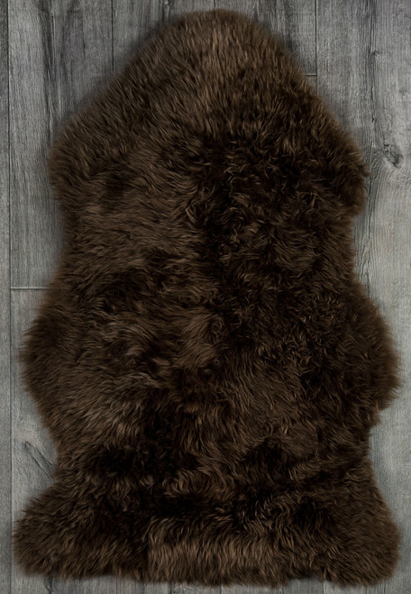 Chocolate Brown Single Sheepskin Rug