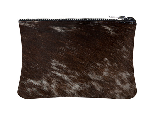 White & Brown Cowhide purse