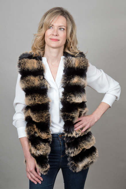 Stunning Multicoloured Faux Fur Gilet