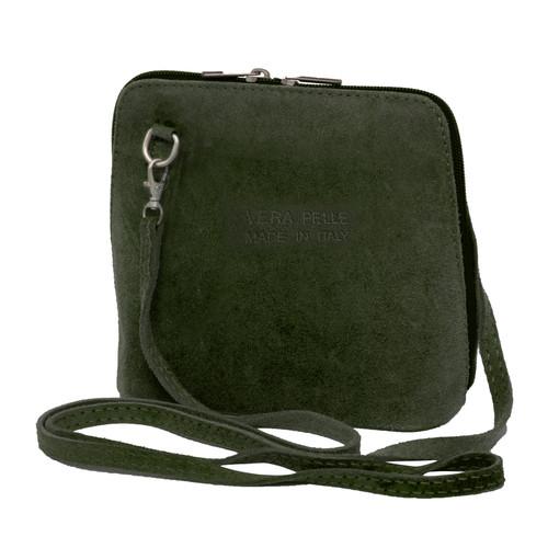 Suede Sholder Bag in Khaki