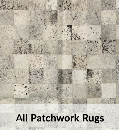 All Cowhide Patchwork rugs