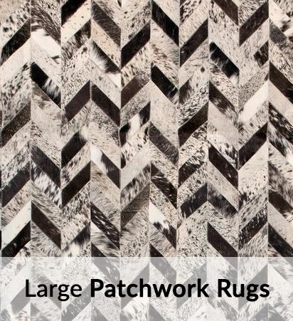 Large Cowhide Patchwork Rugs