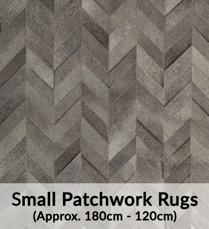 Small Cowhide Patchwork Rugs