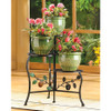Wrought Iron Apple Triple Plant Stand