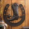 Horseshoe and Cowboy Boot Metal Wall Decor