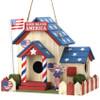 God Bless America Patriotic Bird House