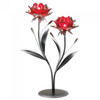 Romantic Red Flower Candle Holder - Double