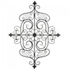 Scrolled Iron Wall Plaque with Fleur De Lis Details