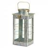 Farmhouse Galvanized Metal Candle Lantern - 14 inches