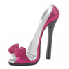 Sparkly High Heel Shoe Phone Holder - Pink Bow