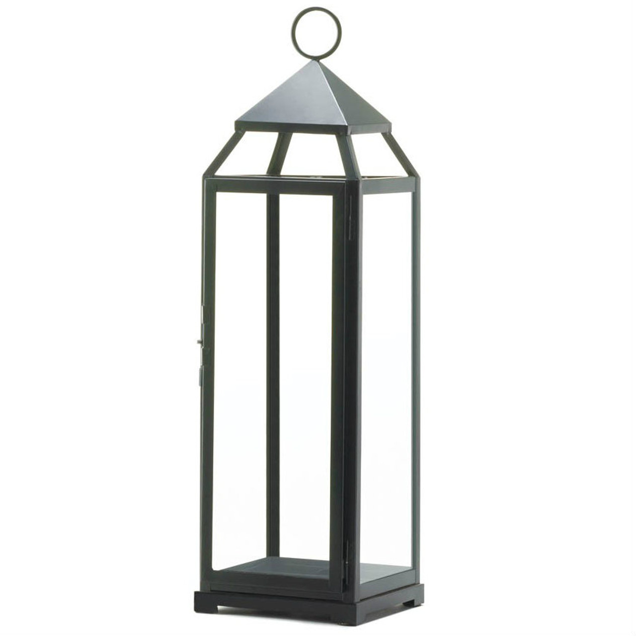 Tall Black Modern Candle Lantern 25 Inches Aewholesale