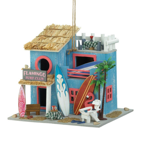 Flamingo Surf Club Beachy Bird House