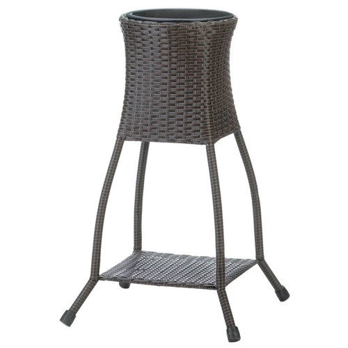 Tuscany Wicker-Look Planter Stand