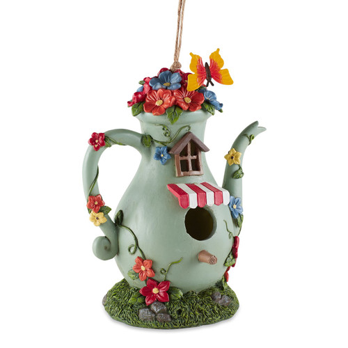 Fanciful Tall Teapot Birdhouse