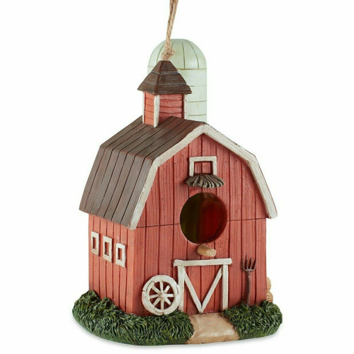 Barn and Silo Birdhouse