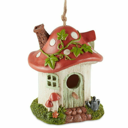 Whimsical Mushroom Cottage Birdhouse