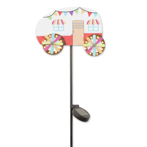 Colorful Camper Solar Lighted Garden Stake
