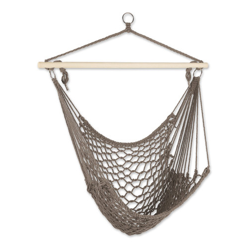 Recycled Cotton Swinging Hammock Chair - Stone