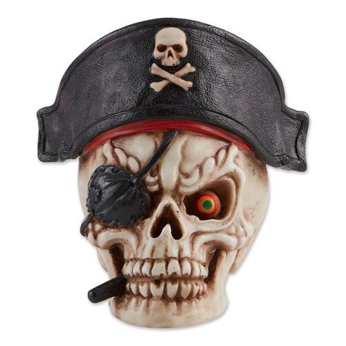Grinning Pirate Skull Figurine