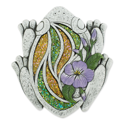 Sparkly Frog Cement Garden Stepping Stone