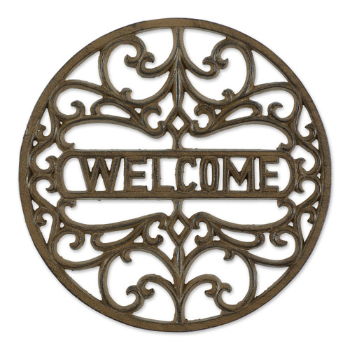 Cast Iron Welcome Stepping Stone