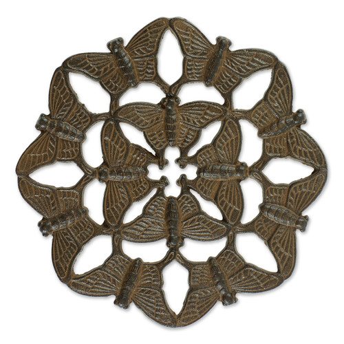 Butterfly Design Cast Iron Stepping Stone