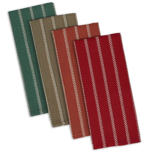 4-Piece Set of Heavyweight Dish Towels in Fall Colors