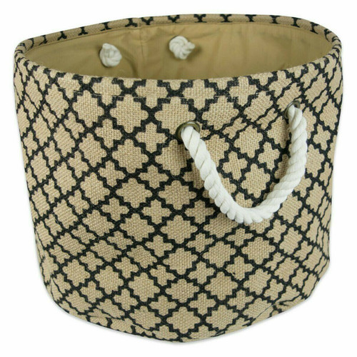 Jute Storage Bin with Rope Handles - 15 inches