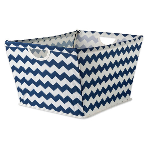 Chevron Fabric Collapsible Storage Bin with Metal Frame