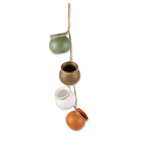 Dangling Pots Decor in Earth Tones