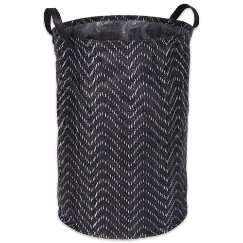 PE-Coated Woven Paper Bin with Black Chevrons - 20 inches